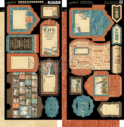 Graphic 45 Tags and Pockets - Cityscapes