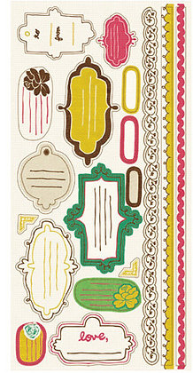 Crate Paper Journal Stickers - Cottage