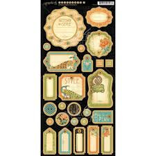 Graphic 45 Chipboard -  Artisan Style 1