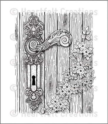 Heartfelt Creations Stamps - Floral Doorway