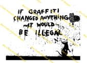 Inspired By Banksy Stamp - Illegal Graffiti
