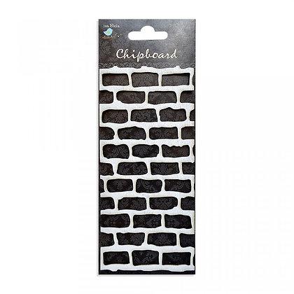 Little Birdie Chipboard  - Brick Wall
