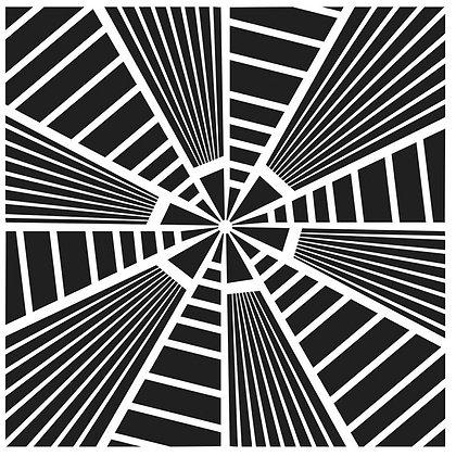 Crafters Workshop 12x12 Stencil - Stripes Explosion