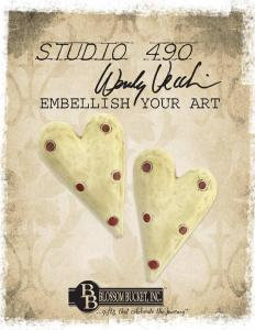 Studio 490 Embellish Your Art - Polka Dot Heart