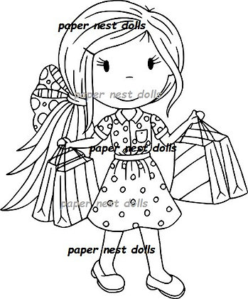 Paper Nest Dolls - Shopping Girl Avery