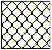 Bee Crafty Inkables Template Mask - Chainlink Fencing