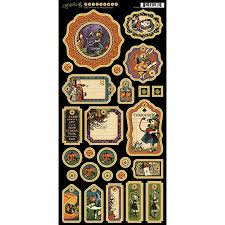 Graphic 45 Chipboard Set - Halloween in Wonderland