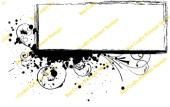 Bee Crafty Background Frame Stamp - Swirl Elongated Rectangle