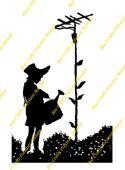 Inspired By Banksy Stamp - Girl Watering Aerial