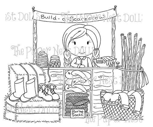 Paper Nest Dolls - Build A Scarecrow