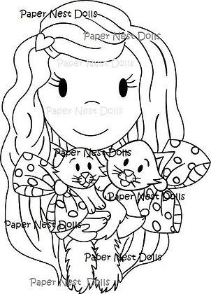 Paper Nest Dolls - Ellie With Kittens