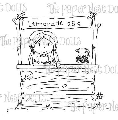 Paper Nest Dolls - Lemonade Stand