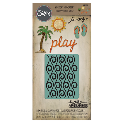 Sizzix Thinlits Tim Holtz Die & Embossing Folder Set - Beach