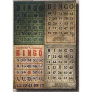 Tim Holtz Matchbook Note Pad - Bingo