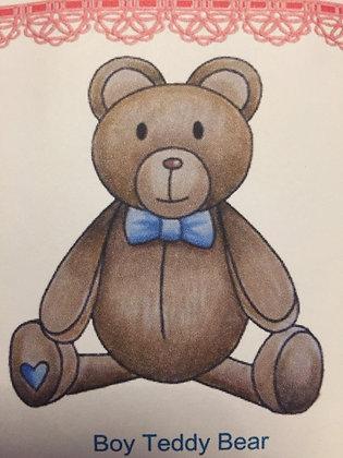 Paper Nest Dolls - Boy Teddy Bear