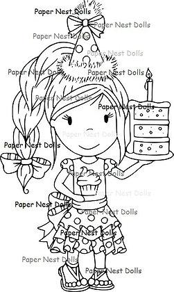 Paper Nest Dolls - Birthday Cake Ellie