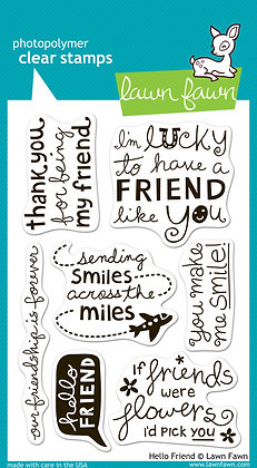 Lawn Fawn Stamps - Hello Friend