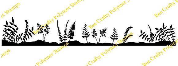 Bee Crafty Backdrop Border - Ferns