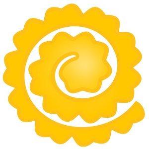 Spellbinders Die - Spiral Blossom Four