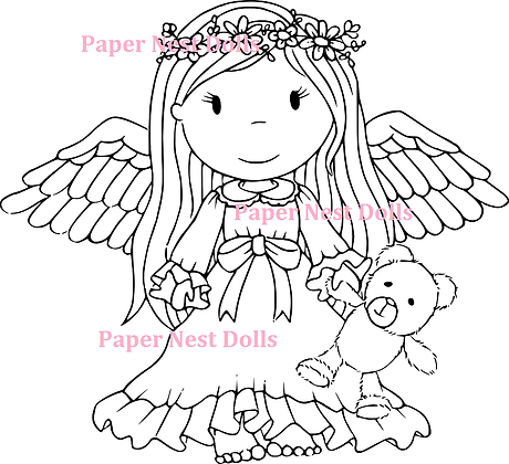 Paper Nest Dolls - Angel Ellie With Teddy