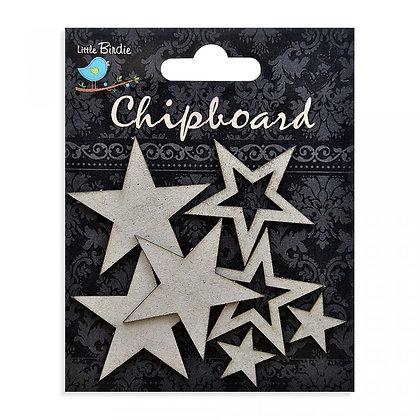 Little Birdie Chipboard  - Stars
