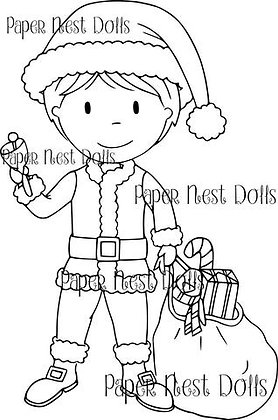 Paper Nest Dolls - Santa Owen