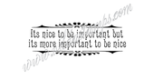 Vilda - Its Nice To Be Important