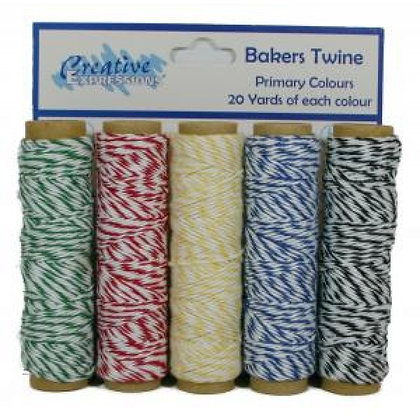 Creative Expressions Bakers Twine - Primary