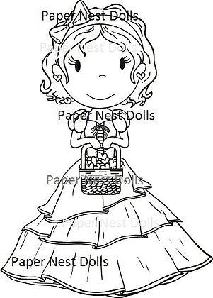 Paper Nest Dolls - Heart Basket Sophie