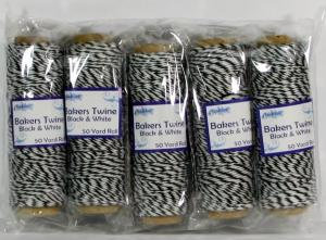 Creative Expressions Bakers Twine - Black & White