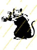 Inspired By Banksy Stamp - Ratzzi