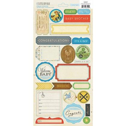 Crate Paper Phrase Stickers - Little Boy Blue