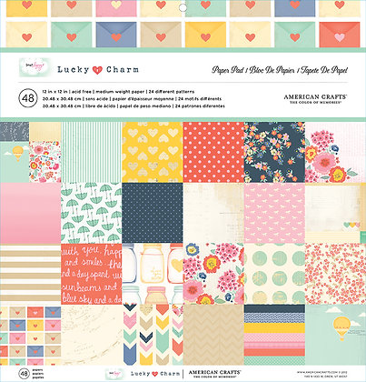 American Crafts Paper Pad - 12x12 - Lucky Charm