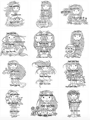 Paper Nest Dolls - Zodiac - Full Collection