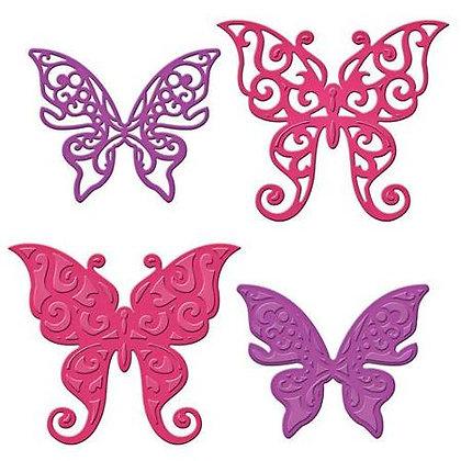 Spellbinders Dies - Les Papillions Two Butterflies