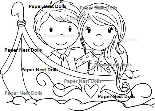 Paper Nest Dolls - Love Boat