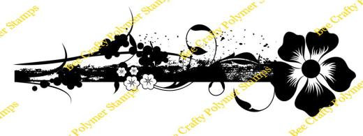 Bee Crafty Backdrop Border - Distressed Flower