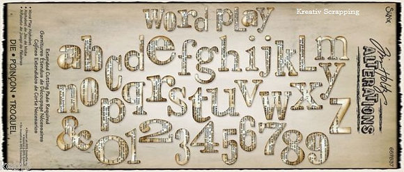 Sizzix Bigz Alphabet Die by Tim Holtz - Word Play