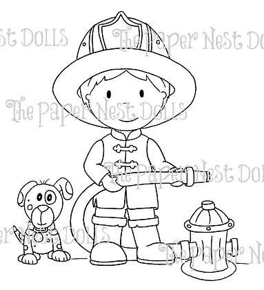 Paper Nest Dolls - Firefighter Owen
