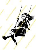 Inspired By Banksy Stamp - Swing