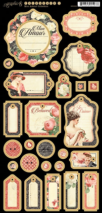 Graphic 45 Chipboard - Mon Amour 1