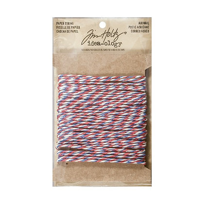 Tim Holtz Idea-ology Paper String - Red,White & Blue