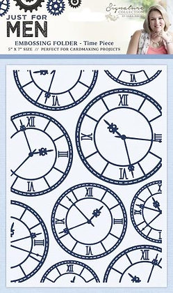 Just For Men Embossing Folder - Time Piece