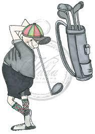 Vilda - Golf Player with Golf Bag