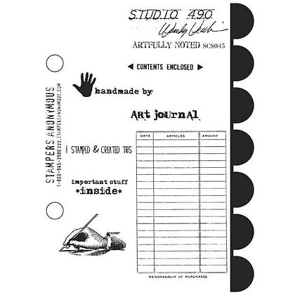 Studio 490 Stamps - Artfully Noted