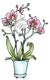 Vilda Stamps - Orchid in Vase