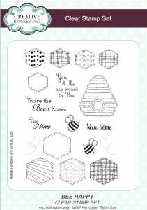 Creative Expressions Clear Stamp Set - Bee Happy