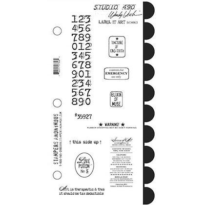 Studio 490 Stamps - Label It Art