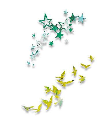Sizzix Thinlits Dies - Birds & Stars