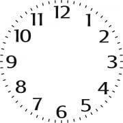 """Indigo Blu Stencil - 6"""" Clock Face"""